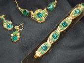 1930's Bohemian Pressed Filigree Suite - Earrings, Necklace & Bracelet (Sorry this item is sold)
